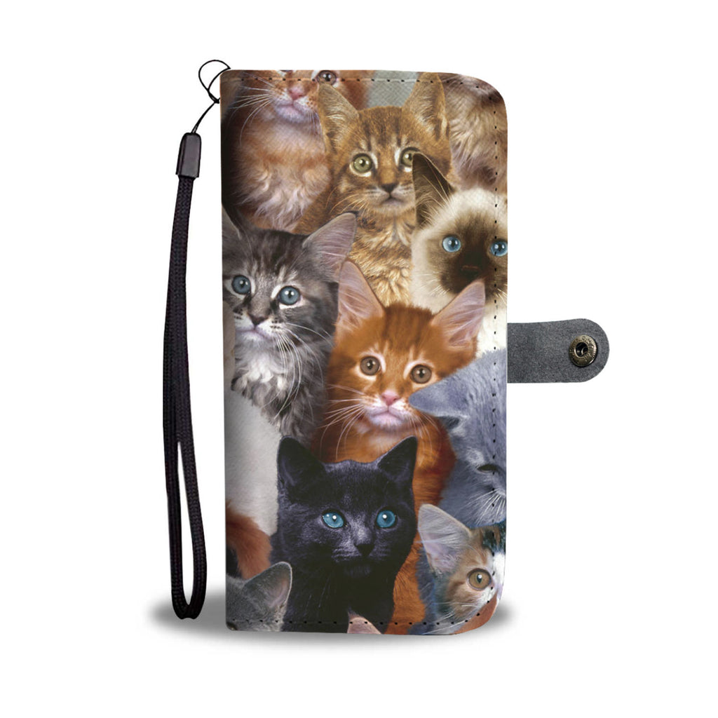 Cat Collage Wallet Case