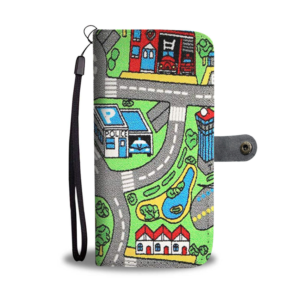 Toy Car Carpet Wallet Case