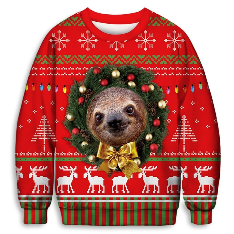 Sloth Wreath Sweater