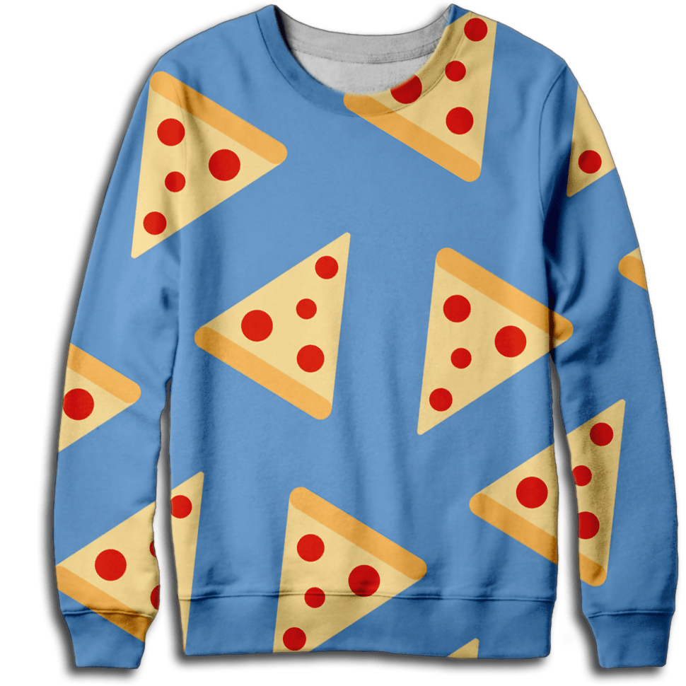 Pizza Pattern Sweatshirt