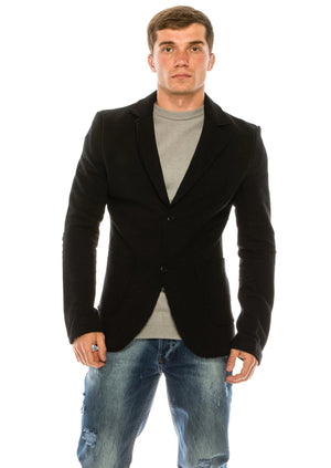Rock Ecstasy Raw Edge Fitted Black Cardigan