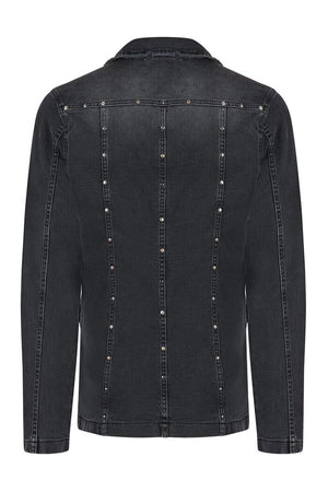 Rock Star Black Studded Denim Jacket