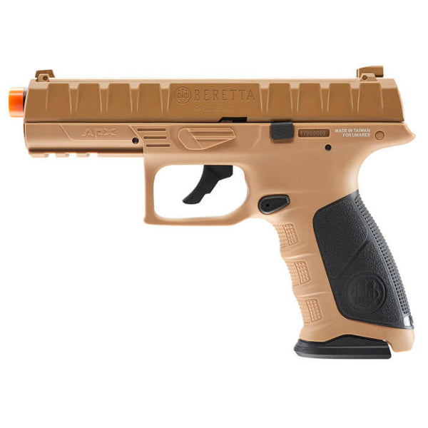 Beretta APX Co2 Blowback Airsoft Pistol, Tan - ssairsoft