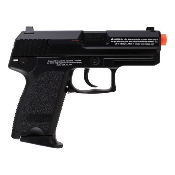 Elite Force H&K USP Compact Gas Blowback GBB Airsoft - Black - ssairsoft