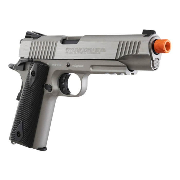 Elite Force Full Metal Gen 3 1911 Tactical CO2 Airsoft Gas Blowback Pistol (Stainless) - ssairsoft