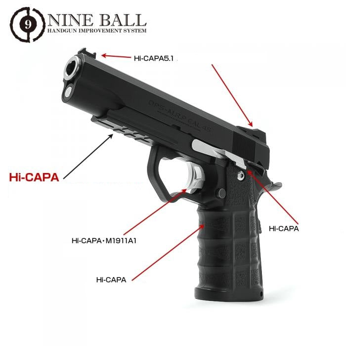 "Laylax Hi-CAPA CUSTOM LOWER FRAME ""RR"" for TM HI-Capa 5.1 NINEBALL - ssairsoft"