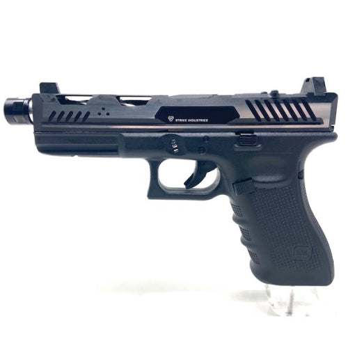 SS Custom Glock 17 Strike industries Black/silver with RMR cut - ssairsoft
