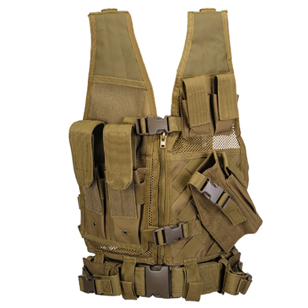 Youth CrossDraw Vest Tan - ssairsoft