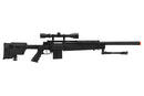 WELL MB4406D SNIPER RIFLE W/ FOLDING STOCK BIPOD & SCOPE - BLACK - ssairsoft