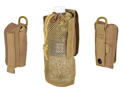 NYLON FOLDING WATER BOTTLE BAG II - TAN