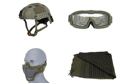 Head Gear Package Green - ssairsoft