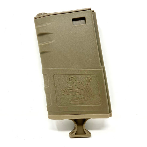 G&P 140rd Short Handled Skull Frog Hi-Cap Magazine for M4 / M16 Series Airsoft AEG Rifles (Color: Dark Earth) - ssairsoft