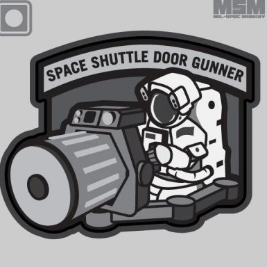 Space Shuttle Door Gunner Patch Urban