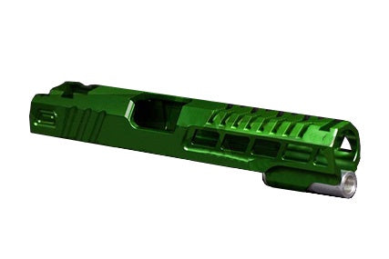 Airsoft Masterpiece Custom Speed HiCapa Slide Green - ssairsoft