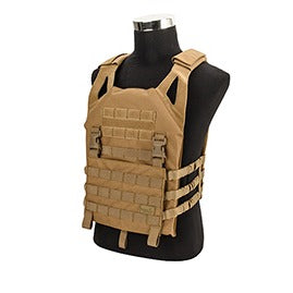 Lancer Tactical Lightweight Plate Carrier Vest, Coyote - ssairsoft