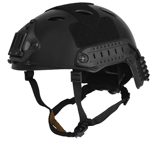 Lancer Tactical Airsoft Tactical PJ Type Helmet LRG/XL - BLACK - ssairsoft