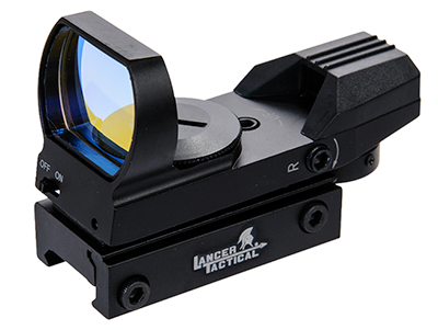 Lancer Tactical Red & Green Dot Reflex Sight - 4 Reticles - ssairsoft