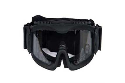 LANCER TACTICAL AERO PROTECTIVE BLACK AIRSOFT GOGGLES CLEAR LENS - ssairsoft
