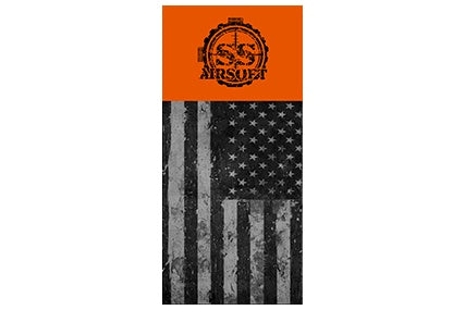 SS Airsoft Barrel Sock B/W Flag - ssairsoft