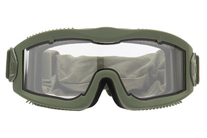 LANCER TACTICAL AERO PROTECTIVE OD GREEN AIRSOFT GOGGLES CLEAR LENS - ssairsoft