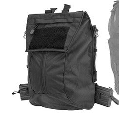 WST JPC Vest 2.0 Accessory Backpack Attachment I, Black - ssairsoft