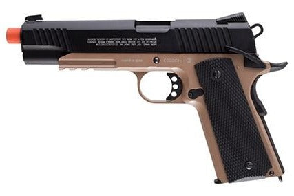 Umarex Elite Force 1911 TAC CO2 GBB (Black/Tan) - ssairsoft