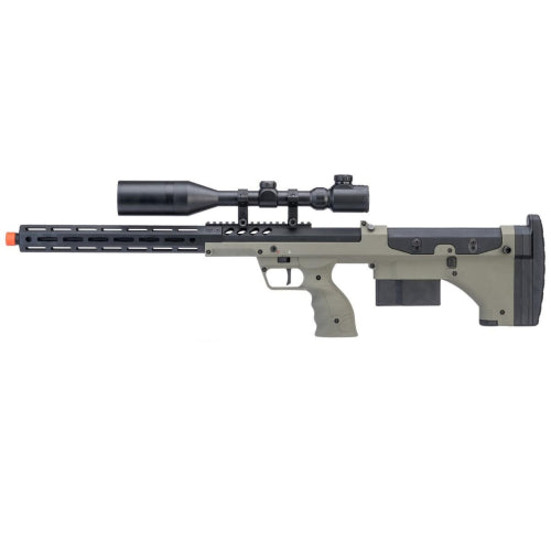 "Desert Tech SRS-A2 22"" Covert Gen3 Pull Bolt Action Bullpup Sniper Rifle by Silverback Airsoft (Color: OD / Right-Handed) - ssairsoft"