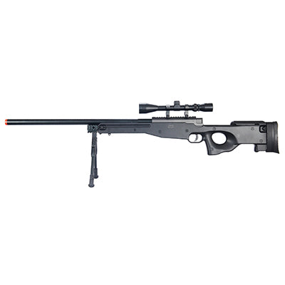 WELLFIRE AIRSOFT L96 AWP SNIPER RIFLE W/ SCOPE AND BIPOD