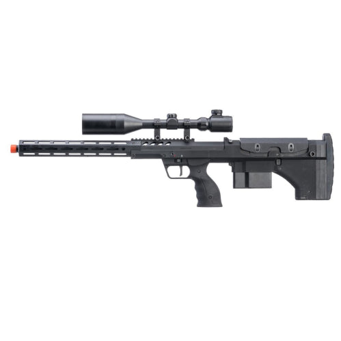 "Desert Tech SRS-A2 22"" Covert Gen3 Pull Bolt Action Bullpup Sniper Rifle by Silverback Airsoft (Color: Black / Right-Handed) - ssairsoft"