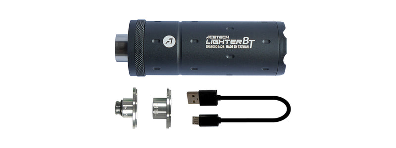 AceTech Lighter BT Airsoft Tracer Unit [14mm/11mm ] (BLACK) - ssairsoft