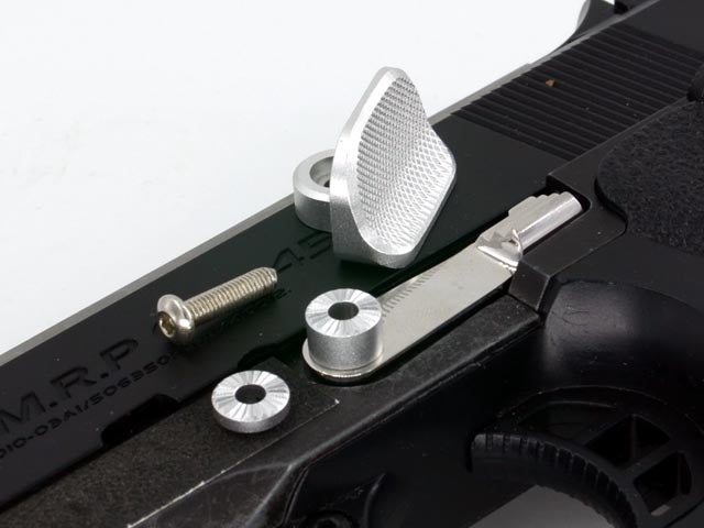 AIP Stainless Steel Slide Stop with Thumb Rest for Marui Hi-capa - ssairsoft