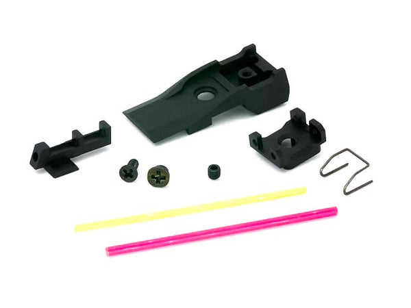 AIP Adjustable Alumimun Front and Rear Sight (Fiber) For TM 5.1 - ssairsoft