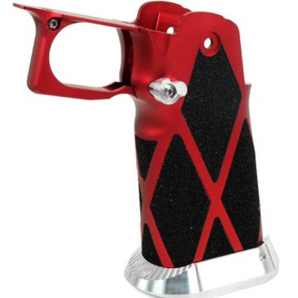 Airsoft Masterpiece Type 12 Pistol Grip for Hi-Capa [SV Diamond Skater] (RED)