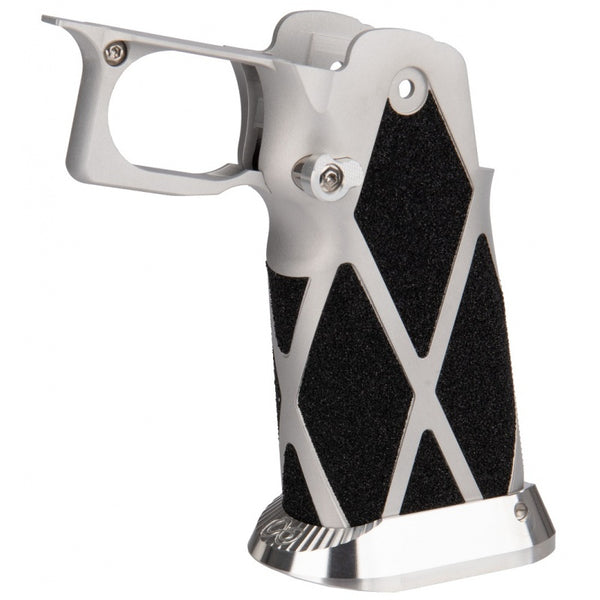 Airsoft Masterpiece Type 12 Pistol Grip for Hi-Capa [SV Diamond Skater] (SILVER)