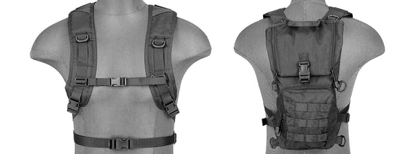 Lancer Tactical NYLON LIGHTWEIGHT HYDRATION PACK BK - ssairsoft