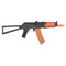 Double Bell AK74U Rifle w/ Folding Triangle Stock (BLACK / WOOD) - ssairsoft