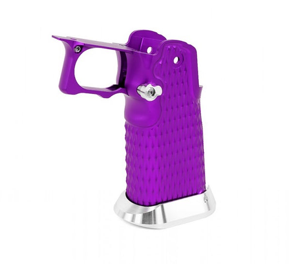 Airsoft Masterpiece Aluminum Grip - Type 9 (Infinity Grip Diamond Hollow ver.) - Purple - ssairsoft