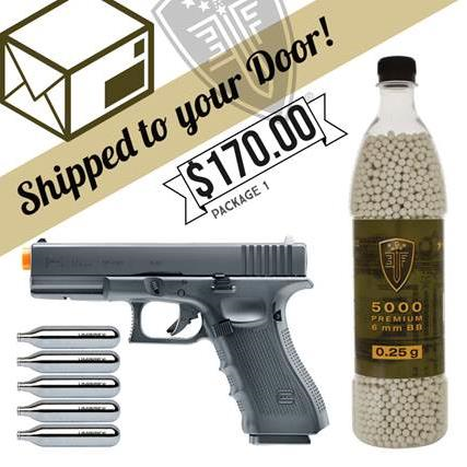 Elite Force Glock G17 Full Blowback CO2 Bundle