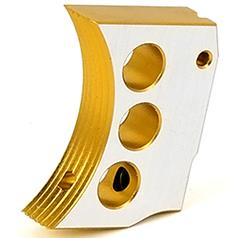 Airsoft Masterpiece Aluminum Trigger Type 4 for Hi-Capa Pistols (GOLD TWO-TONE) - ssairsoft