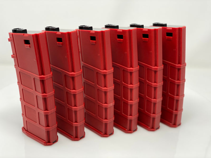 Lonex 200rd M4 Midcap Red 6 pack - ssairsoft