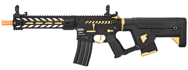 "Lancer Tactical Enforcer BATTLE HAWK 10"" Skeleton AEG w/ Alpha Stock, Gold - ssairsoft"