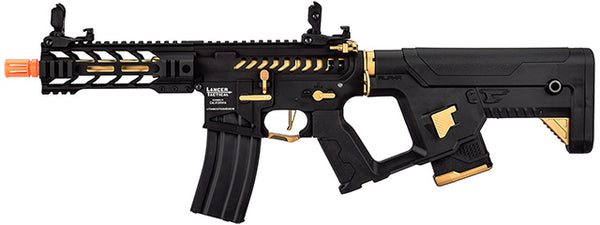 "Lancer Tactical Enforcer BATTLE HAWK 7"" Skeleton AEG w/ Alpha Stock, Gold - ssairsoft"