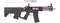 "Lancer Tactical Enforcer BATTLE HAWK 7"" Skeleton AEG [HIGH FPS] w/ Alpha Stock (BLACK/PURPLE) - ssairsoft"