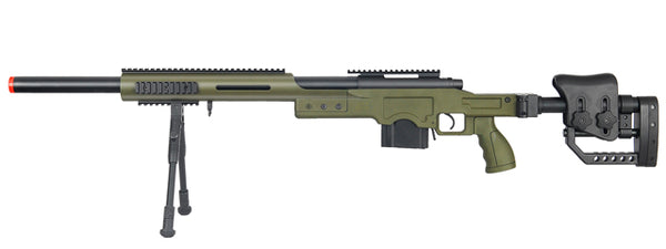 WELL MB4410GBIP BOLT ACTION RIFLE w/BIPOD (COLOR: OD GREEN) - ssairsoft