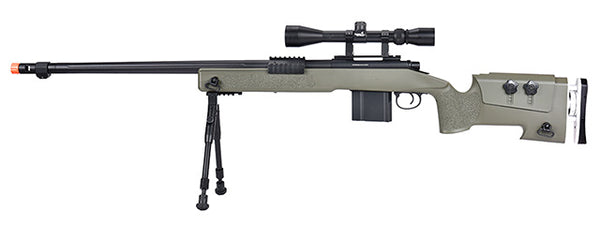 WellFire Bolt Action Sniper w/ Scope & Bipod (OD GREEN)