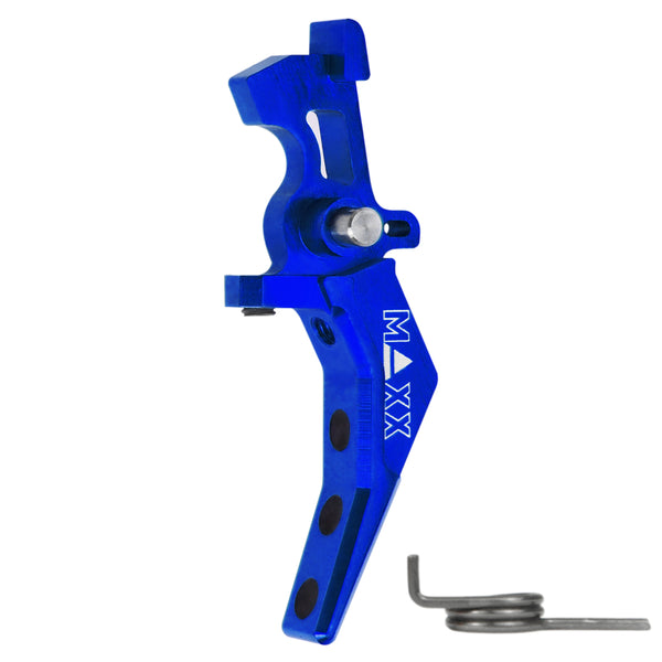 Maxx Model CNC Aluminum Advanced Speed Trigger (Style B) (Blue) - ssairsoft