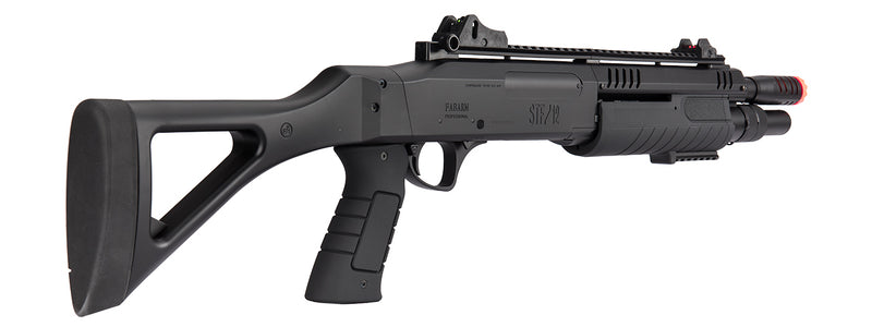 FABARM STF/12 Airsoft Spring Short Shotgun w/ Fixed Stock (BLACK) - ssairsoft