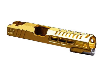 Airsoft Masterpiece Custom Speed hicapa slide gold - ssairsoft