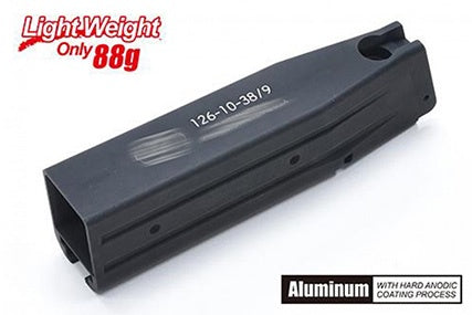 Guarder Aluminum Magazine Case for MARUI HI-CAPA 5.1 (S Style/Black) - ssairsoft