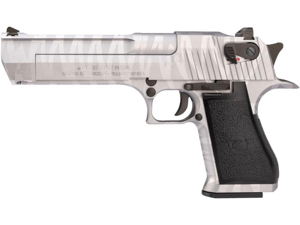 WE-Tech Desert Eagle AE Full Metal Gas Blowback  Silver Tigerstripe - ssairsoft